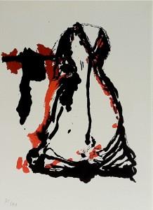 """Sérigraphie """"Robe"""" 28x33 cm non encadrée, signée et numérotée 2003 140 €"""