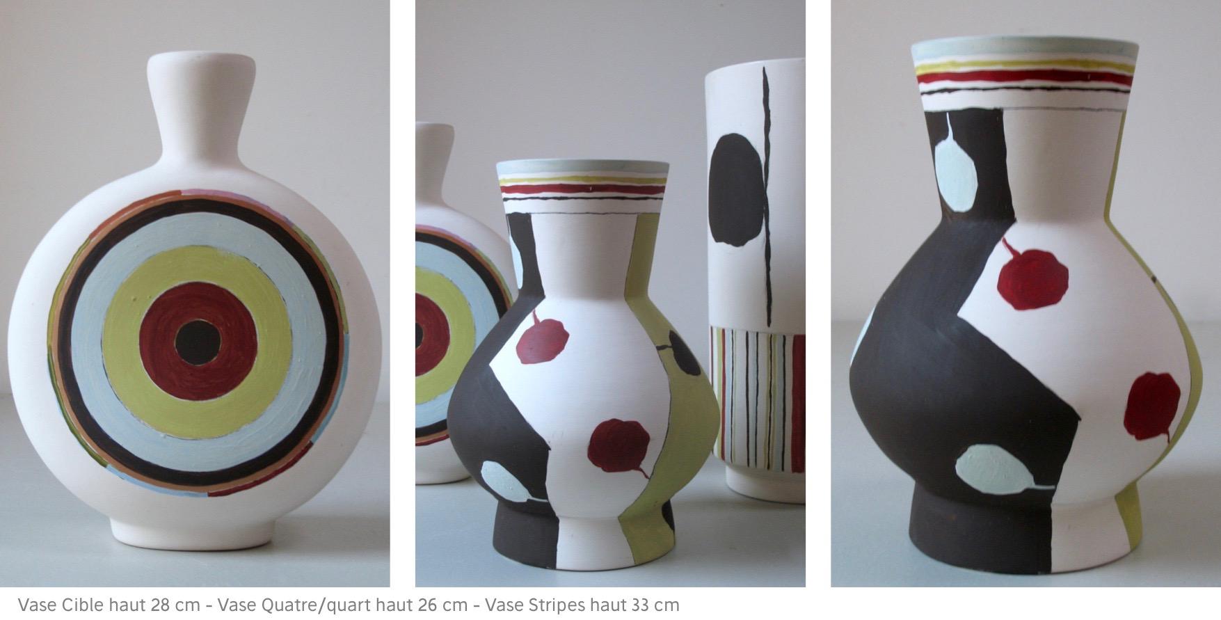 Longwy 3 vases
