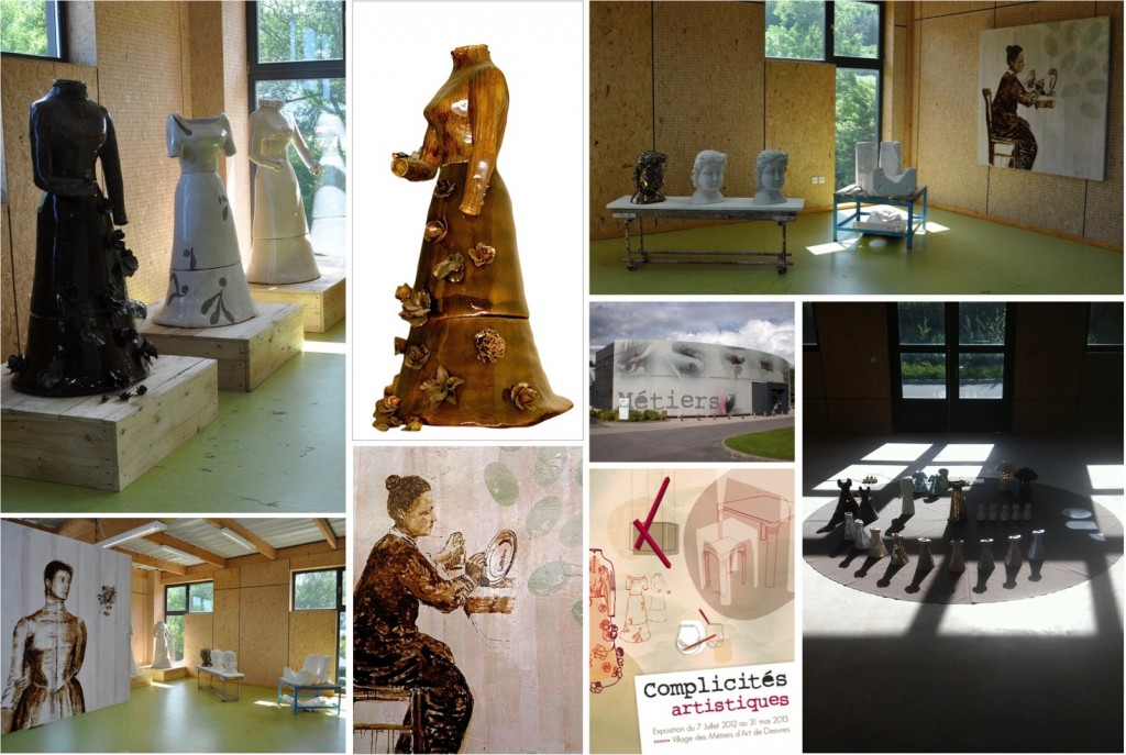 "Robe Céramique échelle 1 ""Virgin Queen"", ""Contredame & ""Peinteuse"" Exposition ""Complicités artistiques"" juillet 2012 : Mai 2013 VMAD Desvres"