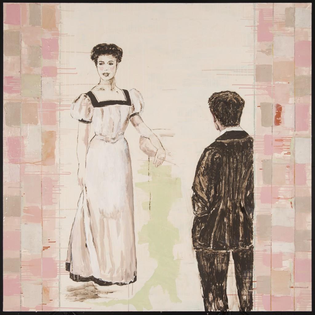 """Huile sur toile """"Tu me promenas..."""", 160 x 160 cm, 2015"""