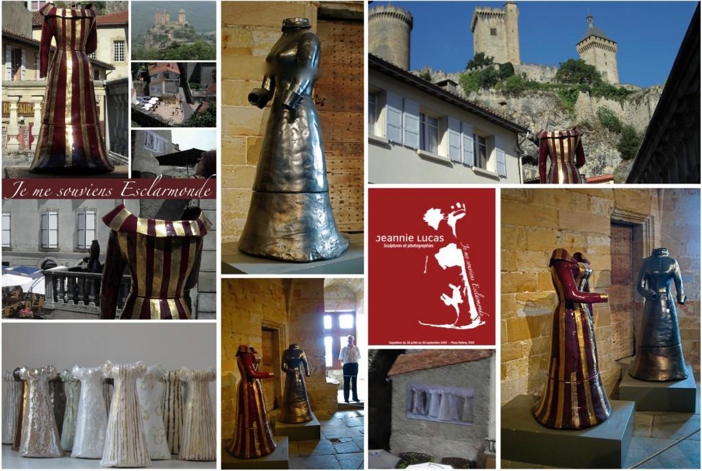 """Cycle d'expositions autour de : """"Je me souviens d'Esclarmonde"""" : """"Femmes Cathares"""", """"Nuit des Musées"""", Musée Château des comtes de Foix 2009 / LAGALERIE """"l'œuvre et le lieu"""" Foix, Hotel du Conseil Général, Journées du Patrimoine 2008"""