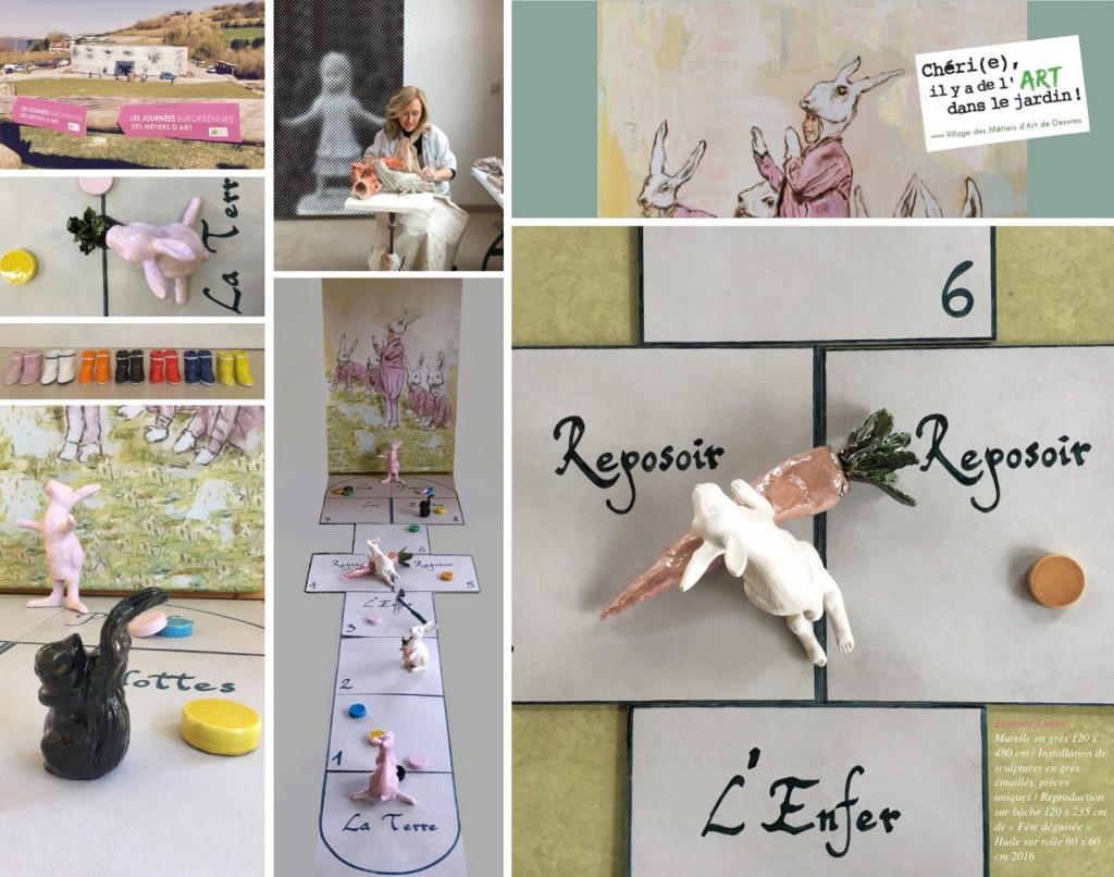 """Expo """"Chérie, Ya de l'art dans le jardin"""", Village des Métiers d'Art, Desvres, mai 2016 / septembre 2017"""