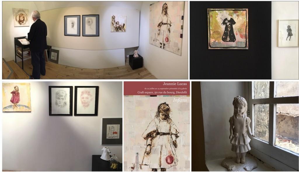 Installation partielle d'Infans, avec Mylène Besson, Galerie Craft Espace, Dieulefit 2016