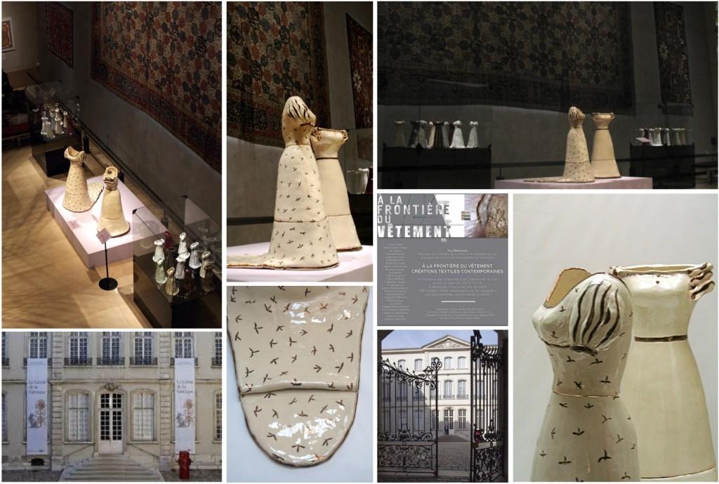 """""""Joséphine & Merveilleuses"""", créations robes céramique échelle 1 pour l'exposition """"À la frontière du vêtement"""", Musée des Arts décoratifs et des Tissus de Lyon, 2007"""